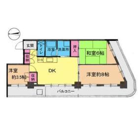 下赤塚駅 徒歩6分6階Fの間取り画像