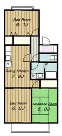 グリーンプラザ21階Fの間取り画像