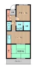 シティコート矢向1階Fの間取り画像
