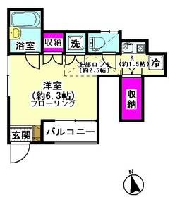 ベルドゥ下丸子 101号室