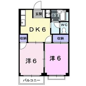 エルディムSK12階Fの間取り画像