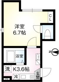 オーガスタコート板橋本町01階Fの間取り画像