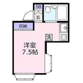 藤間コーポ21階Fの間取り画像