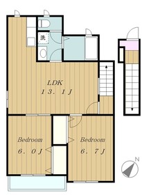 ファビラスハウス2階Fの間取り画像