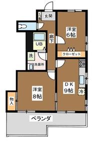ルーマ千駄木2階Fの間取り画像