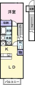 プラッツ21Ⅰ2階Fの間取り画像