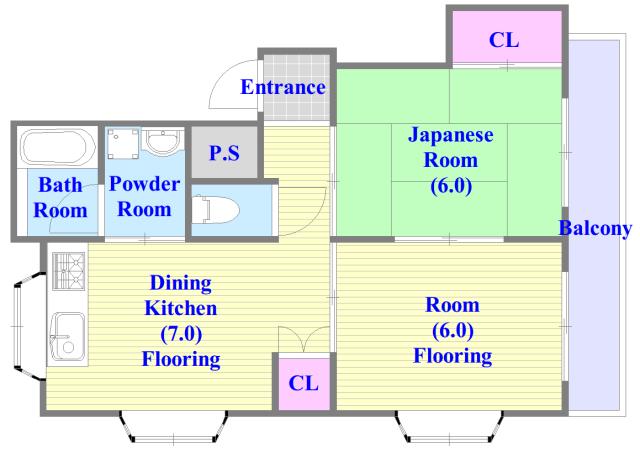 サンライフ若江東 セパレートで和室もありファミリータイプにはおススメの間取です。