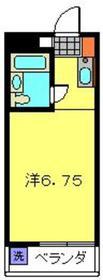 裕マンション2階Fの間取り画像