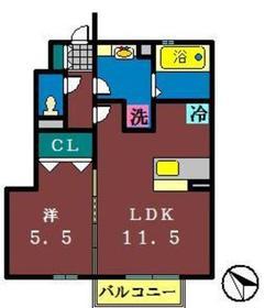グランドソレーユ31階Fの間取り画像