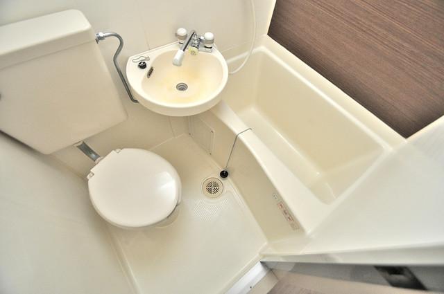 ベルハイム俊徳道 ちょうどいいサイズのお風呂です。お掃除も楽にできますよ。