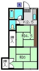 熊谷荘2階Fの間取り画像