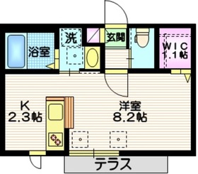 BLANC TODOROKI1階Fの間取り画像