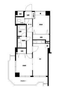 第13鈴木ビル3階Fの間取り画像