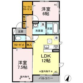(仮)D-room御園A2階Fの間取り画像