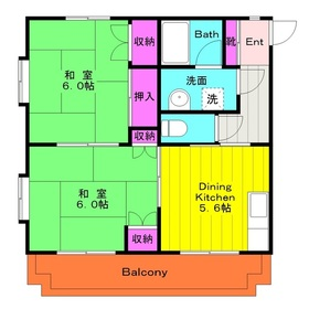 矢野口駅 徒歩10分3階Fの間取り画像