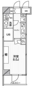 エルスタンザ文京千駄木7階Fの間取り画像