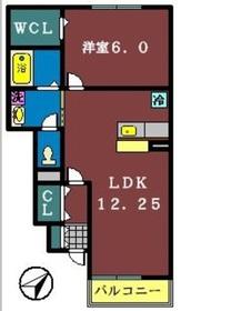 グランドソレーユ2(高津)1階Fの間取り画像