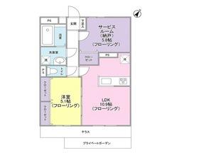 鎌倉ガーデン壱番館1階Fの間取り画像