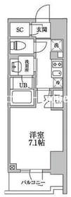 レジディア文京本郷III5階Fの間取り画像