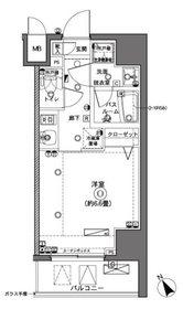 ZOOM横浜6階Fの間取り画像