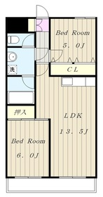 生田駅 バス7分「生田高校前」徒歩2分5階Fの間取り画像