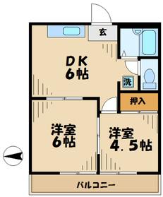 グリーンハイム小川2階Fの間取り画像