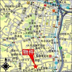 麻布十番駅 徒歩10分案内図