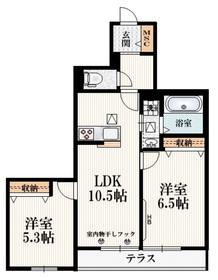 (仮称)小川町1丁目マンション1階Fの間取り画像