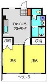 蒔田駅 徒歩15分3階Fの間取り画像