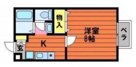 セジュール平松2階Fの間取り画像