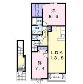フェアリーウッド湘南2階Fの間取り画像