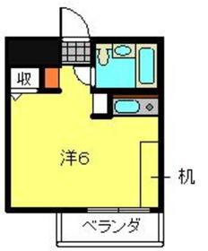 菊名センチュリー214階Fの間取り画像