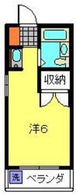 ユウキビル横浜4階Fの間取り画像