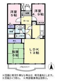 柿生駅 徒歩16分3階Fの間取り画像