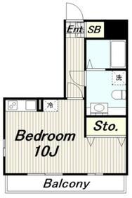 エスポワール(東豊田4)3階Fの間取り画像