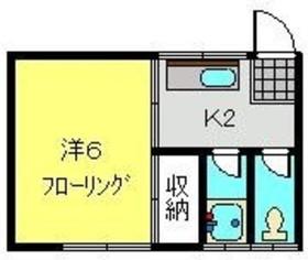 常盤台荘Kハイツ 2号棟2階Fの間取り画像