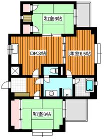 三高ガーデンタウン2階Fの間取り画像