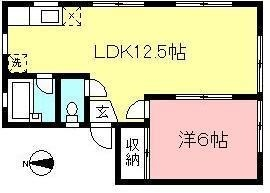 1LDKタイプの南向きのお部屋です☆1