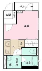 若松河田駅 徒歩5分2階Fの間取り画像