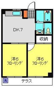 元住吉駅 バス7分「明津」徒歩2分1階Fの間取り画像