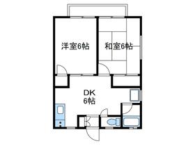 ハイツ吉沢2階Fの間取り画像