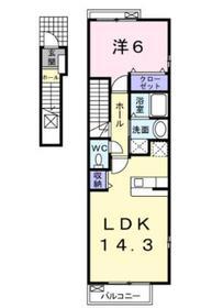 伊勢原駅 徒歩17分2階Fの間取り画像