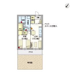 (シニア限定)アルモニーレジダンス氷川台1階Fの間取り画像