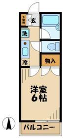 シルクハイム1階Fの間取り画像