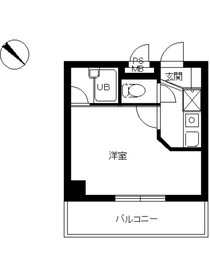 スカイコート西荻窪第23階Fの間取り画像