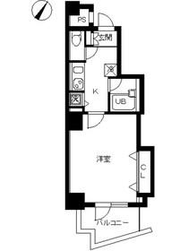 スカイコート駒沢大学3階Fの間取り画像