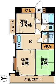 T'sgarden永山6階Fの間取り画像