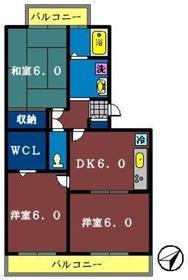 ハイツ・サンピーチ A棟1階Fの間取り画像