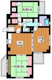 東武練馬駅 徒歩10分2階Fの間取り画像
