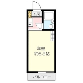 フラットハイツ上福岡2階Fの間取り画像